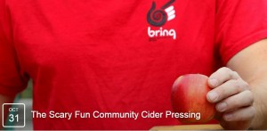 BRING's Scary Fun Community Cider Pressing @ BRING Planet Improvement Center